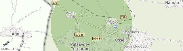Carte de Palau-de-Cerdagne