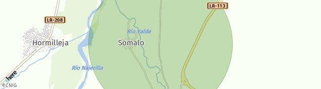 Mapa Hormilleja