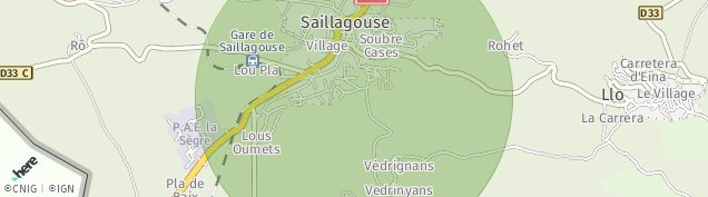 Carte de Saillagouse