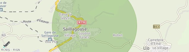Carte de Saillagouse