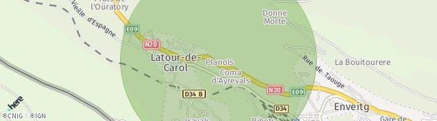Carte de Latour-de-Carol