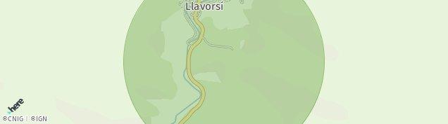 Mapa Llavorsí