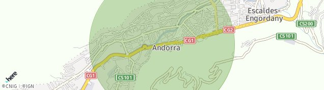 Map of Andorra La Vella