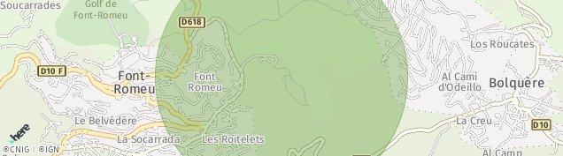Carte de Font-Romeu-Odeillo-Via