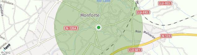 Mapa Monforte de Lemos