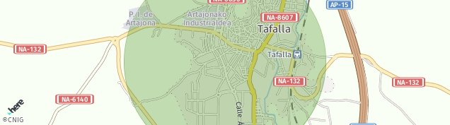 Mapa Tafalla