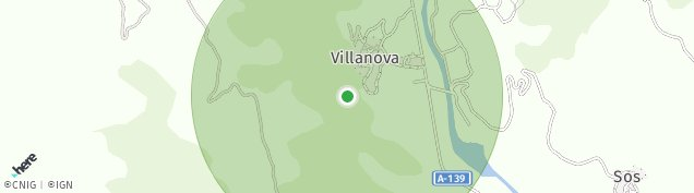 Mapa Villanova