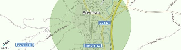 Mapa Briviesca