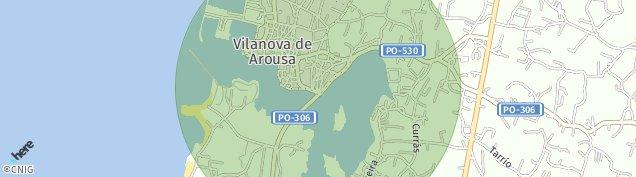 Mapa Vilanova de Arousa