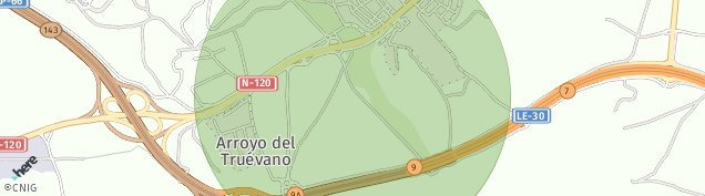 Mapa La Virgen del Camino
