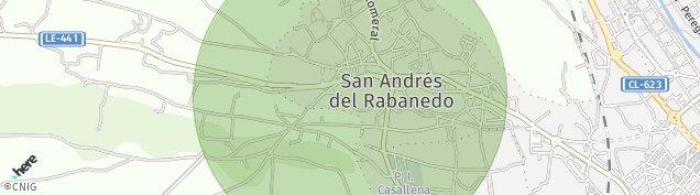 Mapa San Andrés del Rabanedo