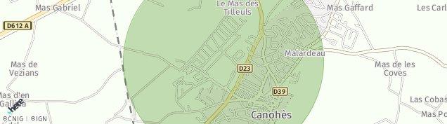 Carte de Canohès