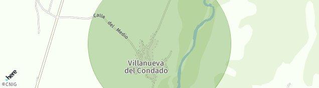 Mapa Villanueva del Condado