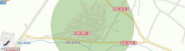 Mapa Obanos