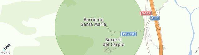 Mapa Becerril del Carpio