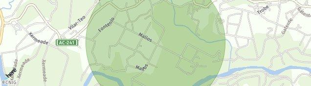 Mapa Campos de A Coruña