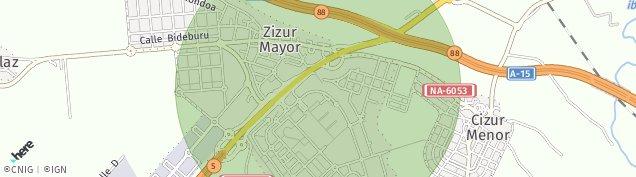 Mapa Zizur Mayor