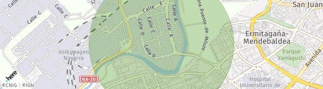 Mapa Barañain