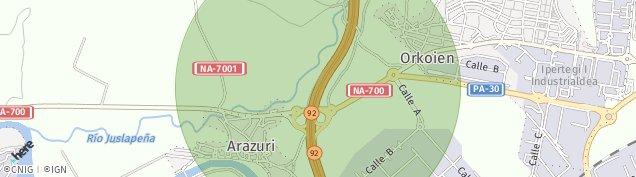 Mapa Arazuri