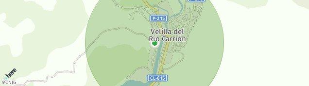 Mapa Velilla del Río Carrión