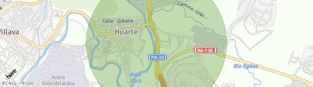 Mapa Huarte