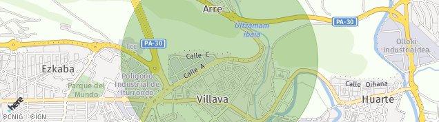 Mapa Burlada
