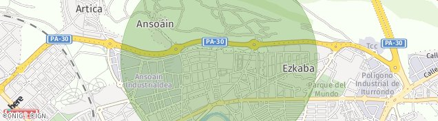 Mapa Ansoáin