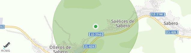 Mapa Saelices de Sabero