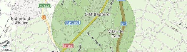 Mapa Vilar de Calo