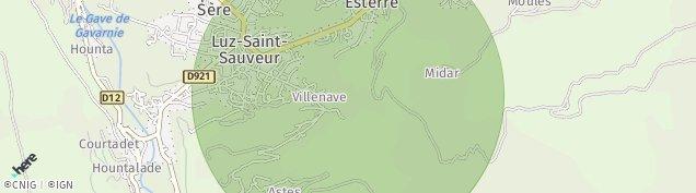 Carte de Luz-Saint-Sauveur