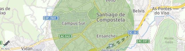 Mapa Santiago de Compostela