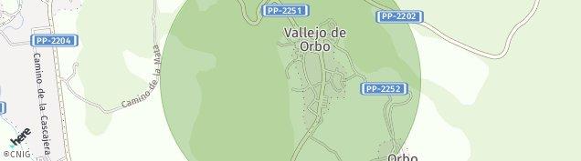 Mapa Vallejo de Orbo