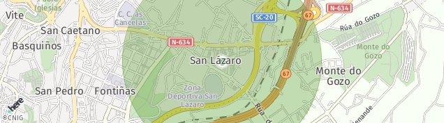 Mapa A Granxa de San Lazaro