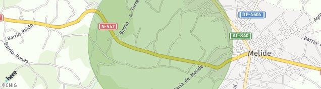 Mapa Melide
