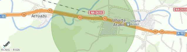 Mapa Uharte-Arakil