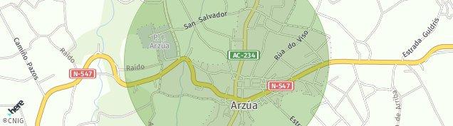 Mapa Arzúa