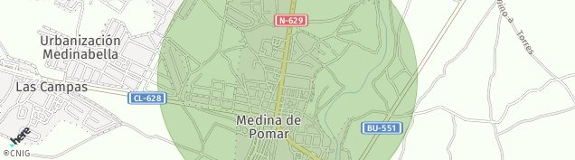 Mapa Medina de Pomar