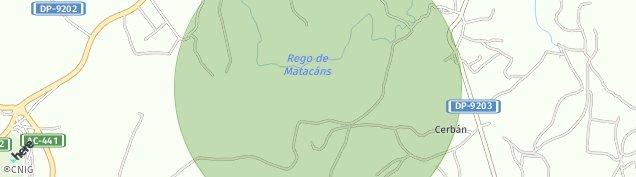 Mapa Berdoias