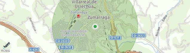 Mapa Zumarraga