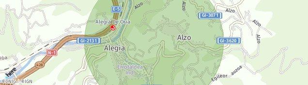 Mapa Alegia