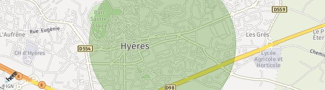 Carte de Hyères