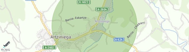 Mapa Artziniega