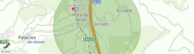 Mapa Pola de Lena