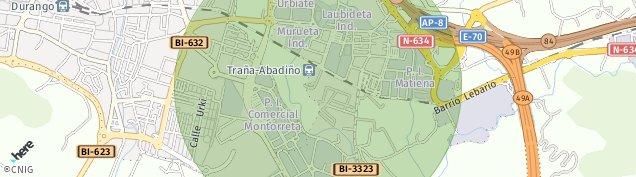 Mapa Traña-Matiena