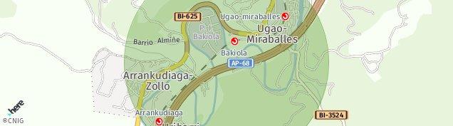 Mapa Ugao-Miraballes