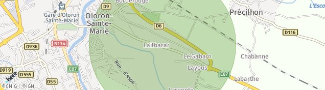 Carte de Oloron-Sainte-Marie