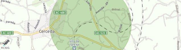 Mapa Cerceda de A Coruña