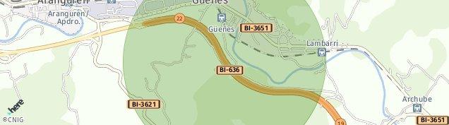 Mapa Gueñes