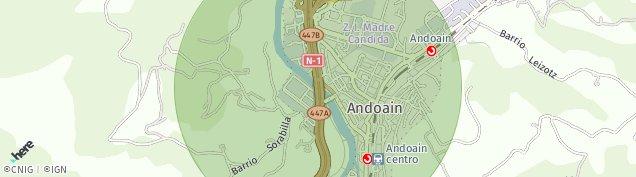 Mapa Andoain