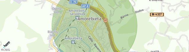 Mapa Amorebieta-Etxano